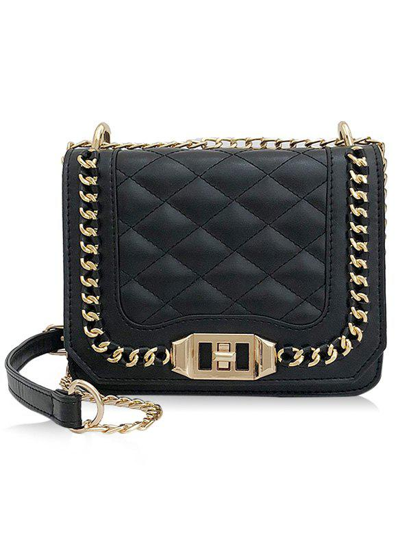 Outfits Chic Quilted Chain Crossbody Bag