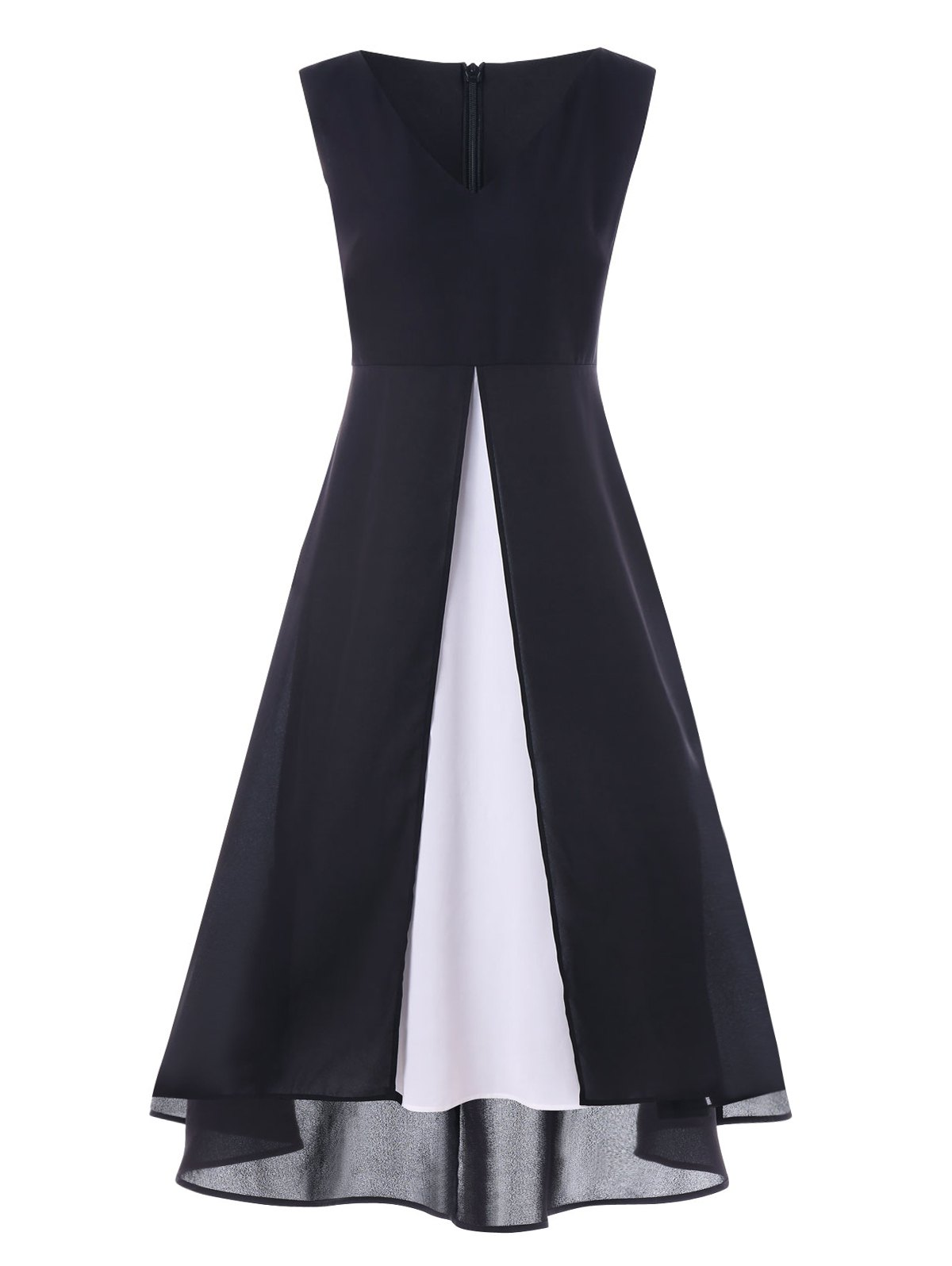 New Color Block Sleeveless Maxi Dress