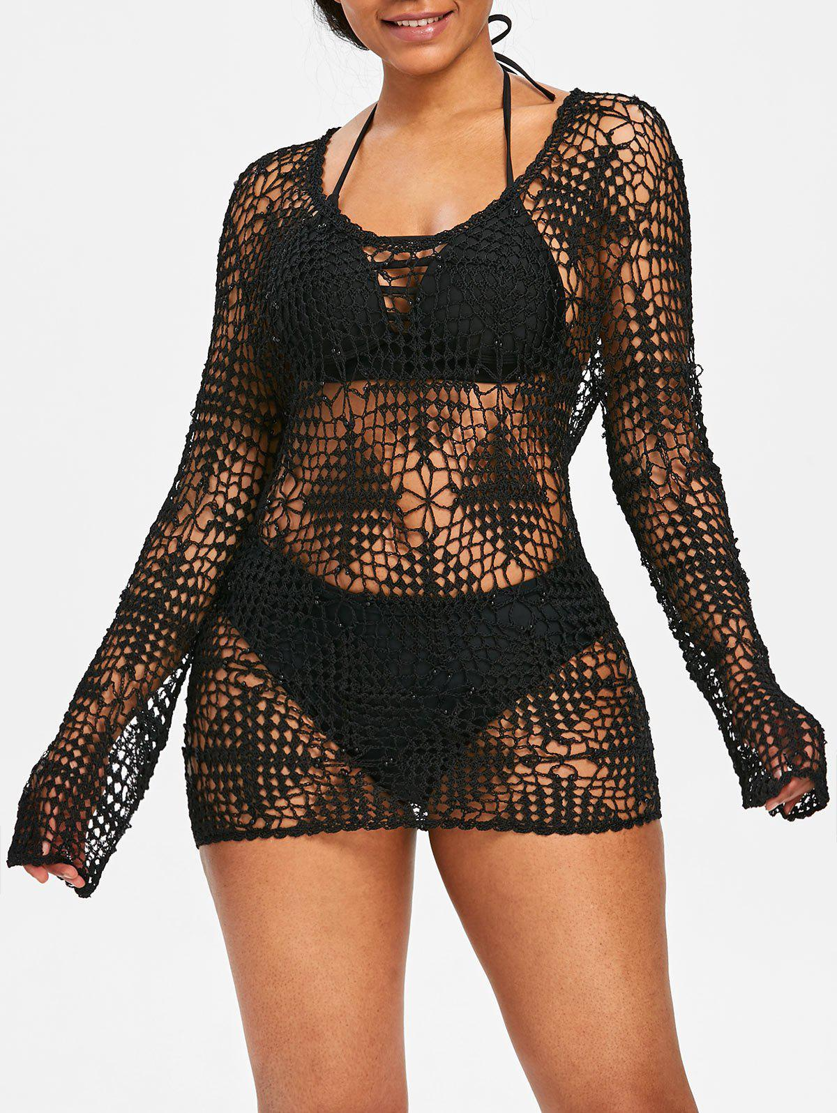 Best Beaded Crochet Tunic Cover Up