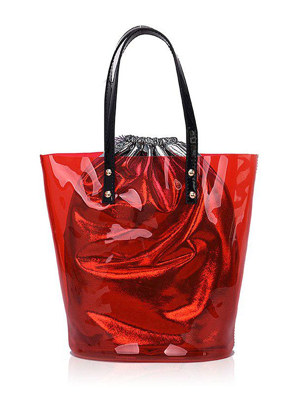Trendy 2 Pieces Beach Jelly Tote Bag Set