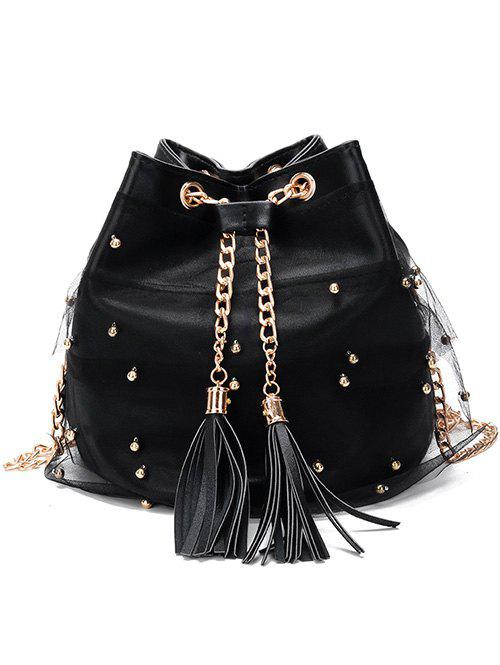 Best Chain PU Leather Lace Chic Crossbody Bag