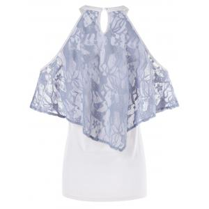 Cold Shoulder Ruffled Tee -