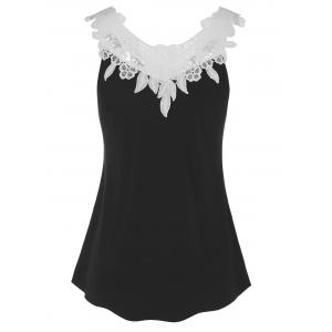 Lace Panel Tank Top -