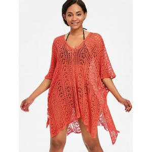 Asymmetric Knit Beach Cover Up -