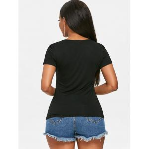 Cutout Front Short Sleeve T-shirt -