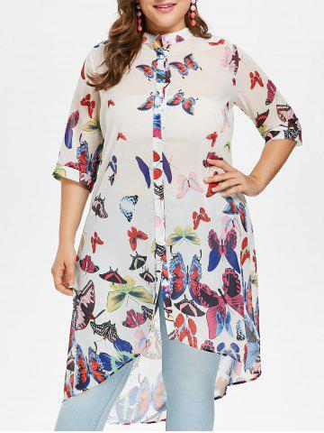 Buy Plus Size Butterfly Long Shirt