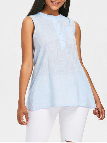Store Semi Sheer Sleeveless Blouse