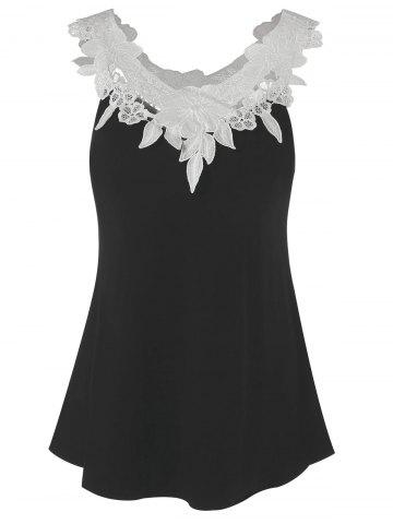 Latest Lace Panel Tank Top
