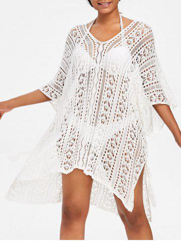 Asymmetric Knit Beach Cover Up