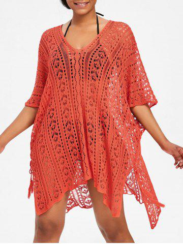 Discount Asymmetric Knit Beach Cover Up