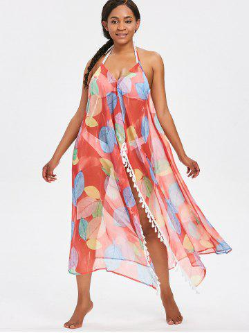See Thru High Split Cover Up Dress