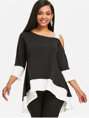 Color Block High Low Tunic T-shirt