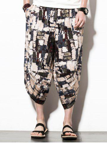 Elastic Waist Colormix Print Nine Minutes of Jogger Pants