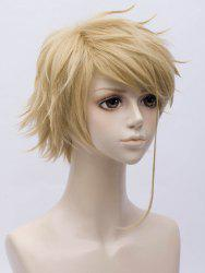 Anime Violet Evergarden Benedict Cosplay Short Inclined Bang Straight Synthetic Wig -