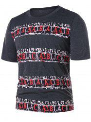 Letter Print Graphic Tee -