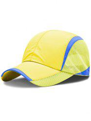 Lightweight Solid Color Breathable Mesh Sunscreen Hat -