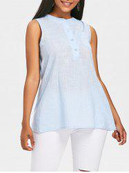 Semi Sheer Sleeveless Blouse -