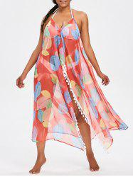 See Thru High Split Cover Up Dress -
