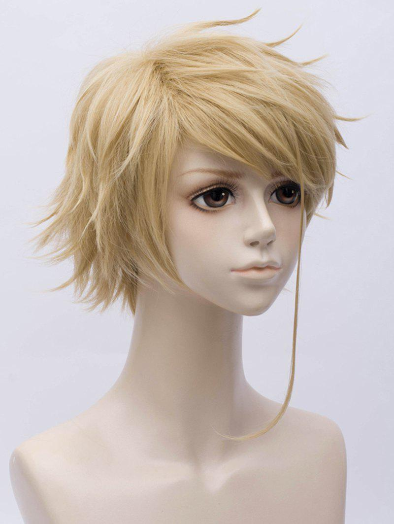 Fancy Anime Violet Evergarden Benedict Cosplay Short Inclined Bang Straight Synthetic Wig