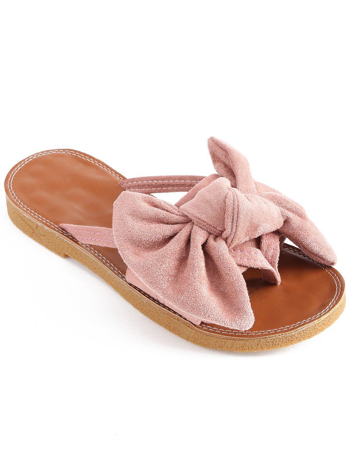 Shop Bowknot Embellished Outdoor Slip On Shoes