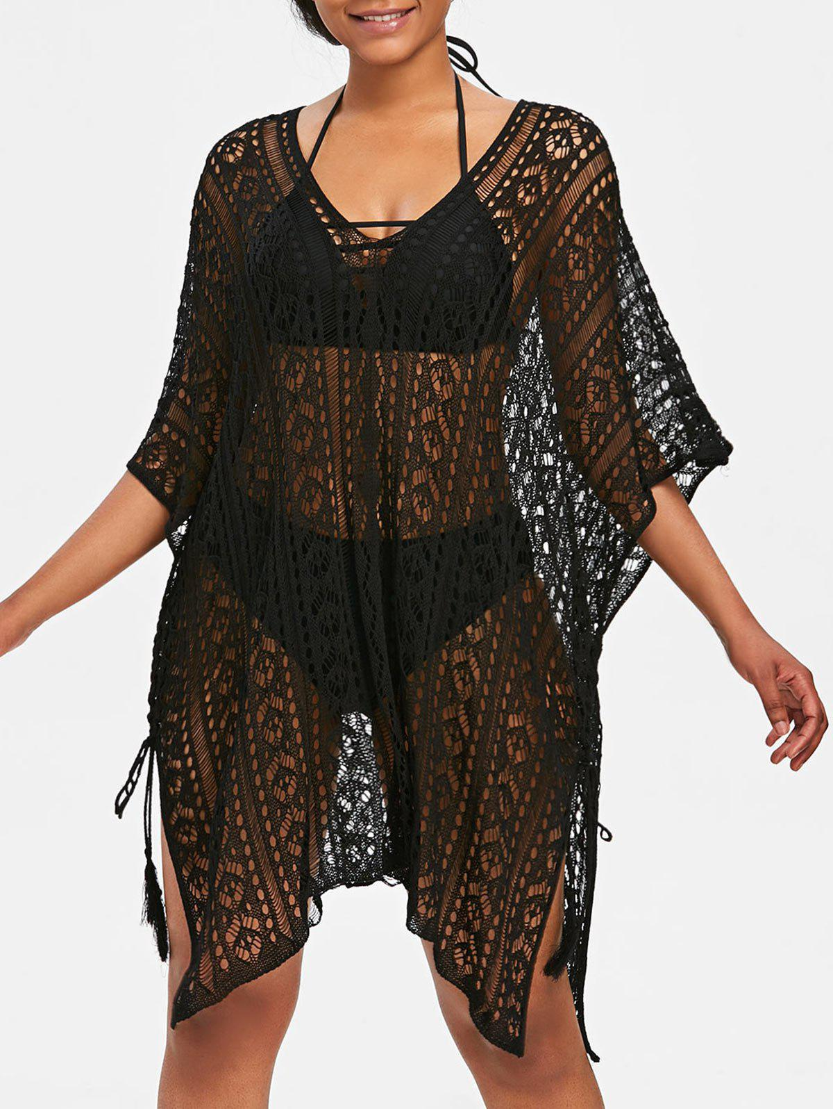 Buy Asymmetric Knit Beach Cover Up
