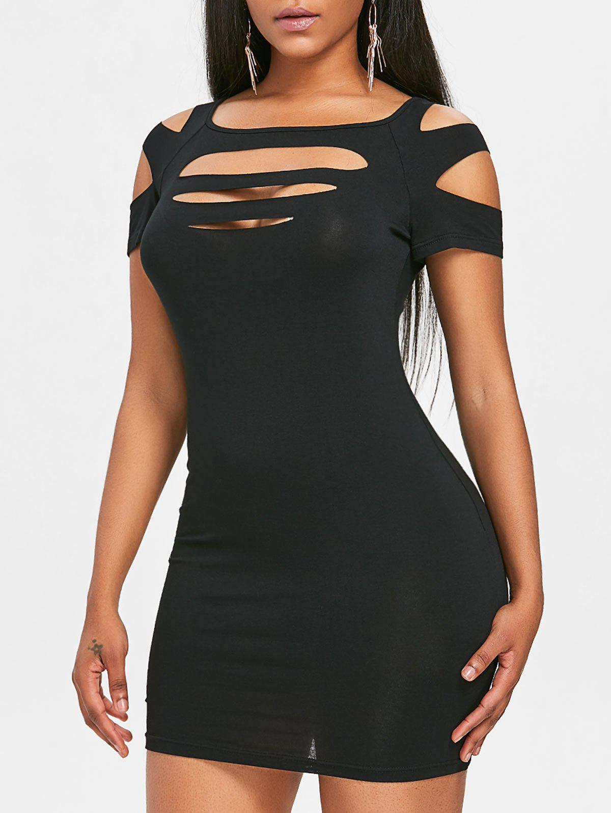 Sale Cut Out Strappy Club Dress