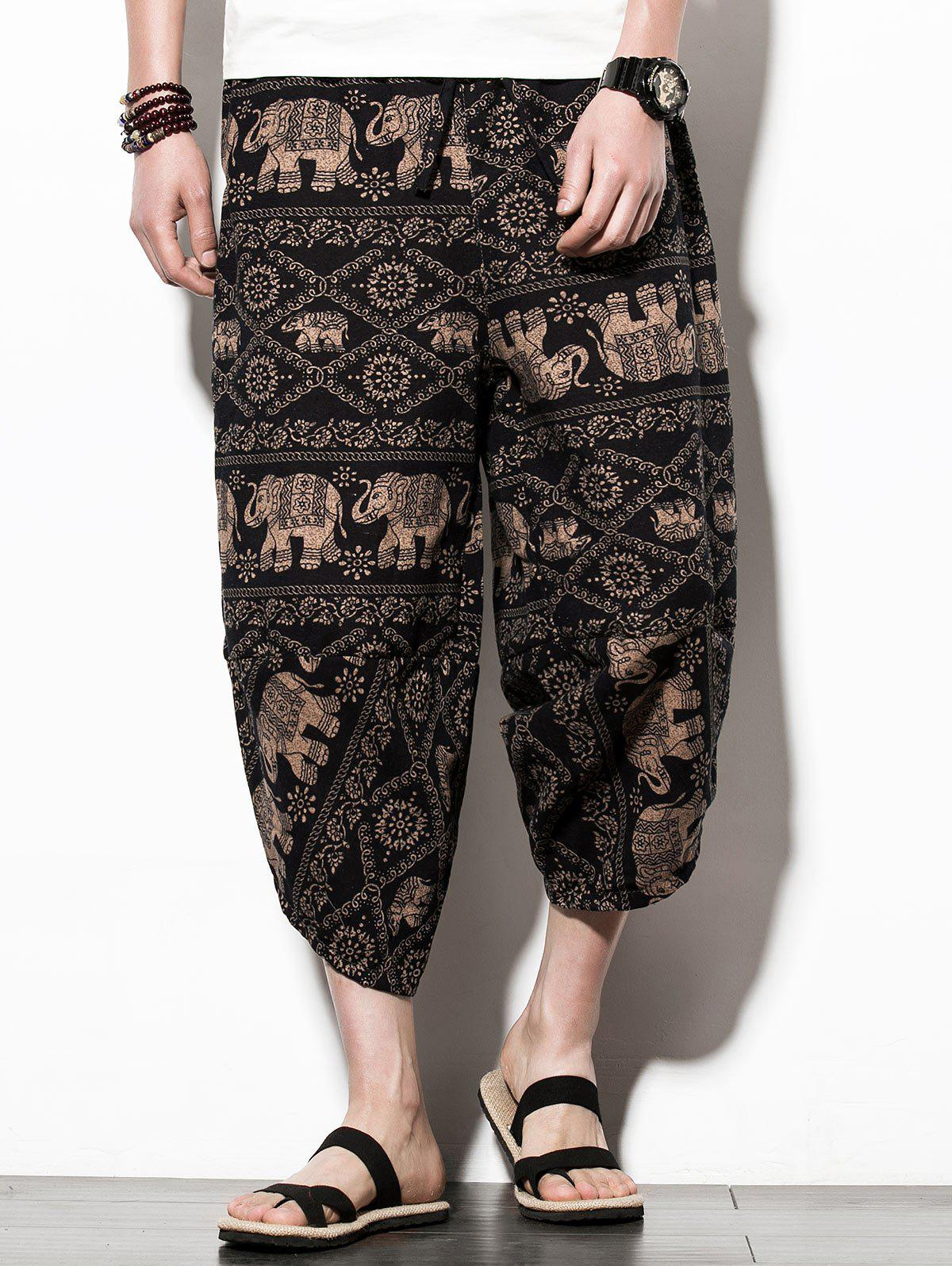 Buy Casual Elephant Print Nine Minutes of Jogger Pants
