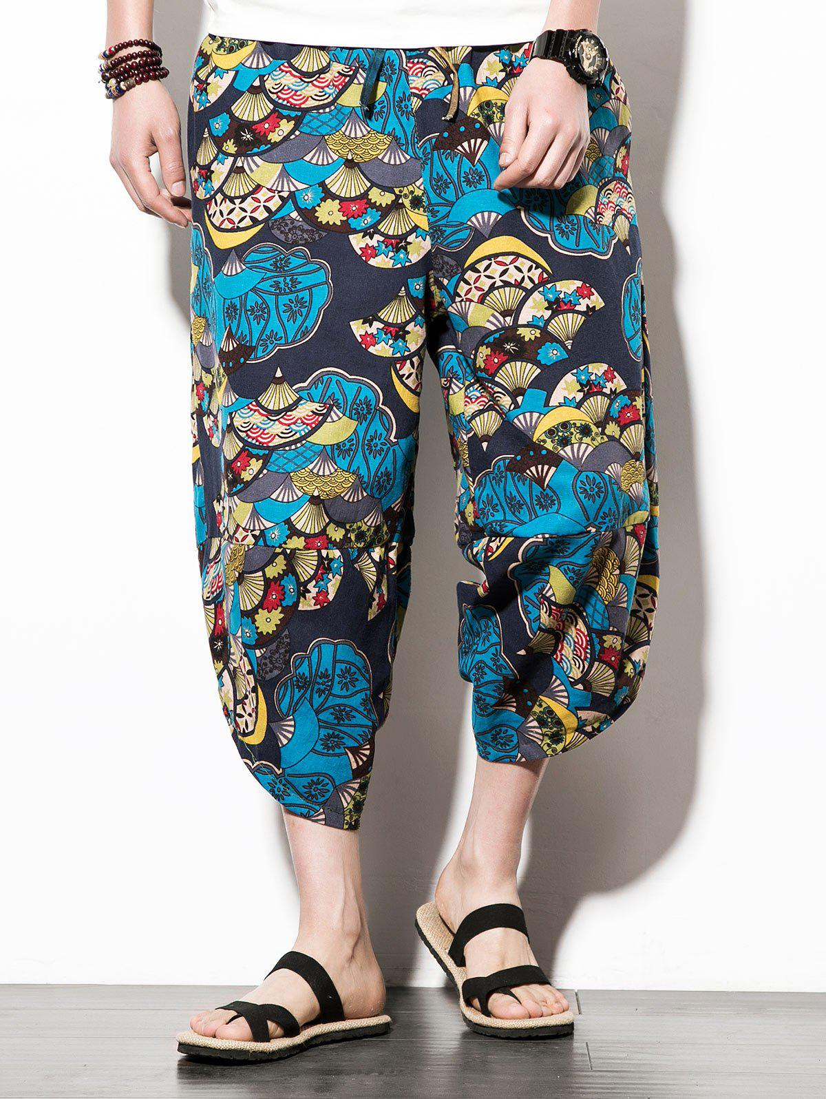 Trendy Casual Sector Flower  Print Nine Minutes of Jogger Pants