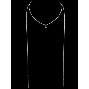 Two Layered Chain Necklace -
