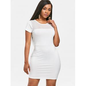 See Through Mesh Panel Bodycon Dress -