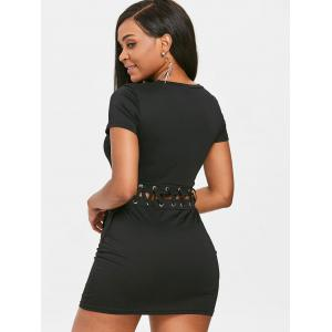 Lace Up Short Bodycon Dress -