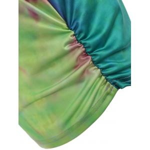 Ripped Sleeve Tie Dyed Print Футболка -