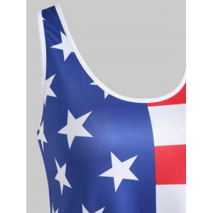 Back Knot American Flag Tank Top -
