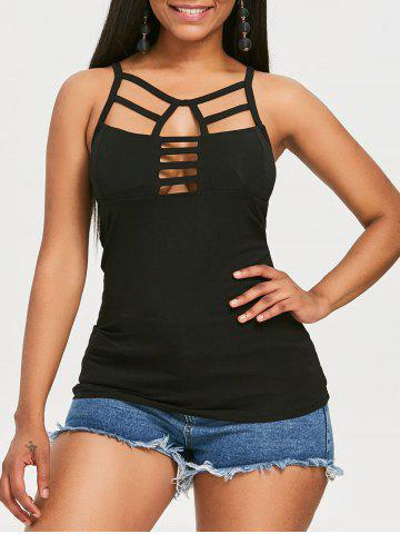 Fashion Lattice Hollow Out Tank Top