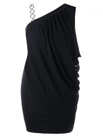 One Shoulder Polyester Dress Free Shipping Discount And Cheap