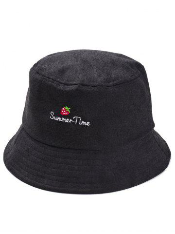 Affordable Summer Time Strawberry Embroidery Fisherman Hat
