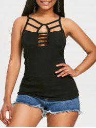 Lattice Hollow Out Tank Top -