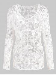 Beaded Crochet Tunic Cover Up -