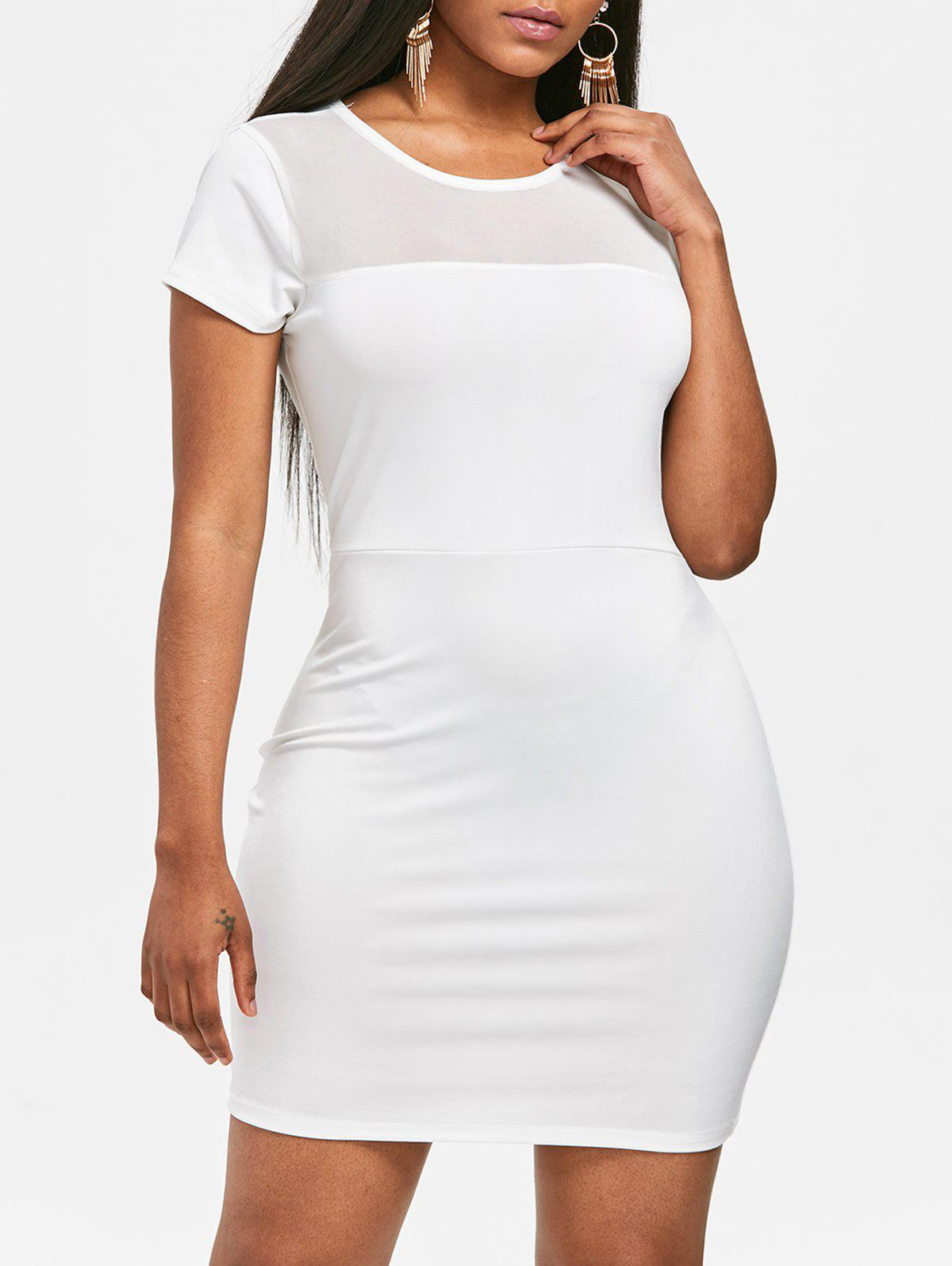 Outfits See Through Mesh Panel Bodycon Dress