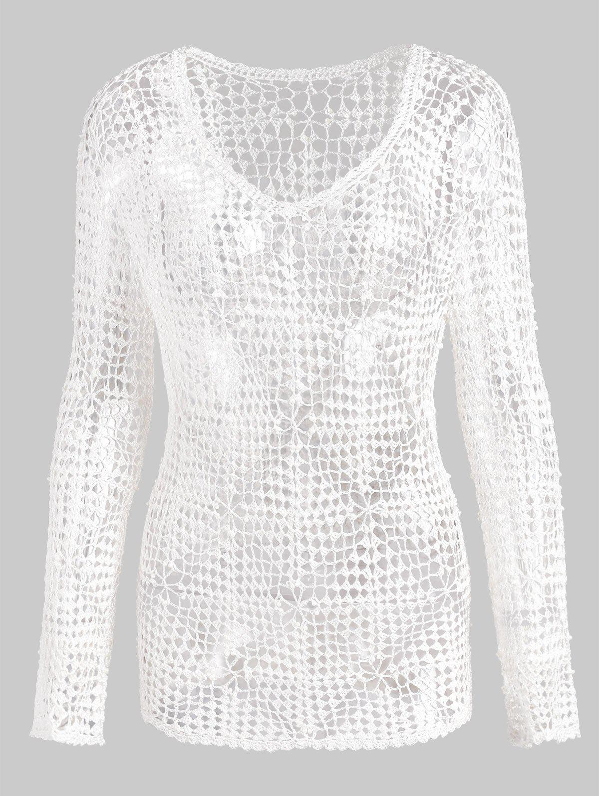 Discount Beaded Crochet Tunic Cover Up