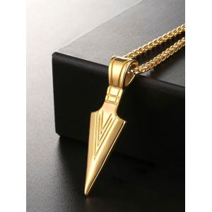 Metal Alloy Triangle Pendant Necklace -