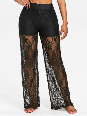 Outfits High Rise Lace Wide Leg Pants