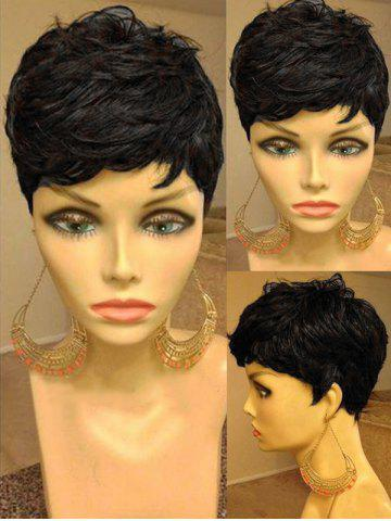 Cheap Short Side Bang Straight Heat Resistant Synthetic Wig