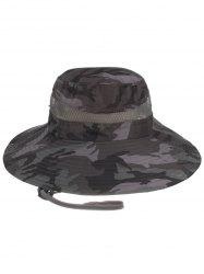 Camouflage Pattern Mesh Breathable Fisherman Hat -