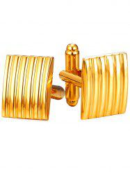 Metal Rectangular Shirt Cufflinks -