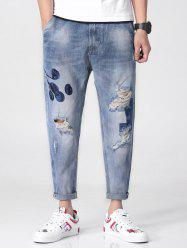 Floral Ornament Narrow Feet Jeans -