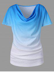 Gradient Color Short Sleeve T-shirt -
