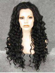Long Oblique Bang Deep Curly Synthetic Wig -
