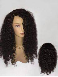 Long Side Parting Fluffy Curly Synthetic Wig -