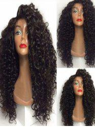 Long Side Bang Curly Synthetic Wig -